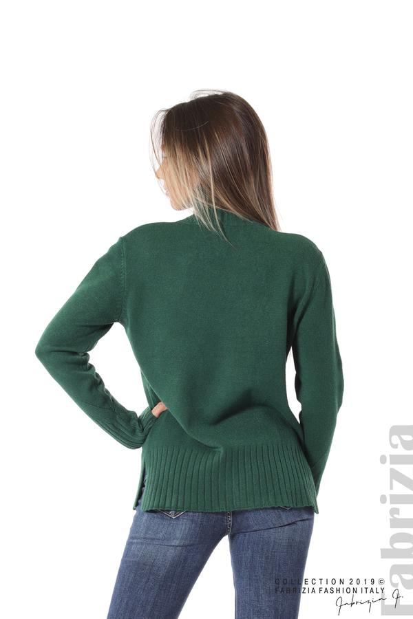 Блуза със свободен силует т.зелен 4 fabrizia
