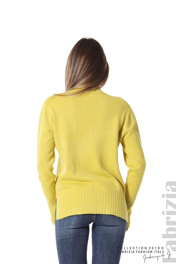 Блуза със свободен силует жълт 3 fabrizia