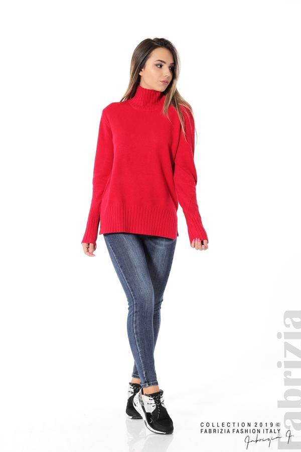 Блуза със свободен силует червен 2 fabrizia