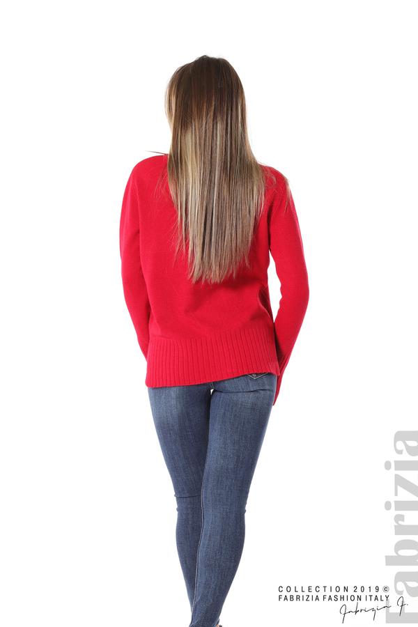 Блуза със свободен силует червен 4 fabrizia