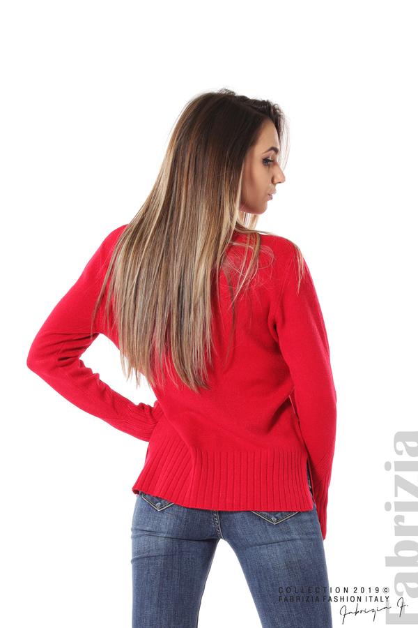 Блуза със свободен силует червен 3 fabrizia