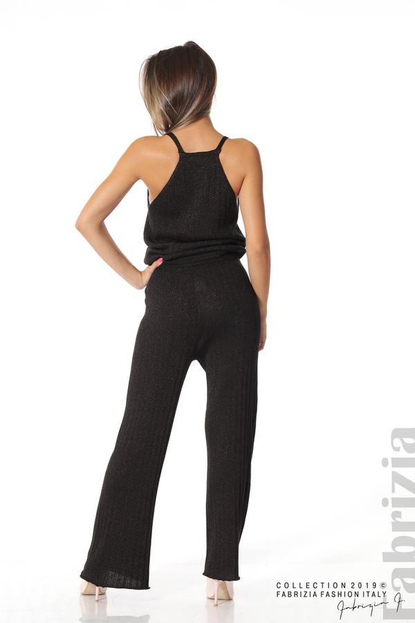 Комплект широк панталон и топ черен/златист 4 fabrizia
