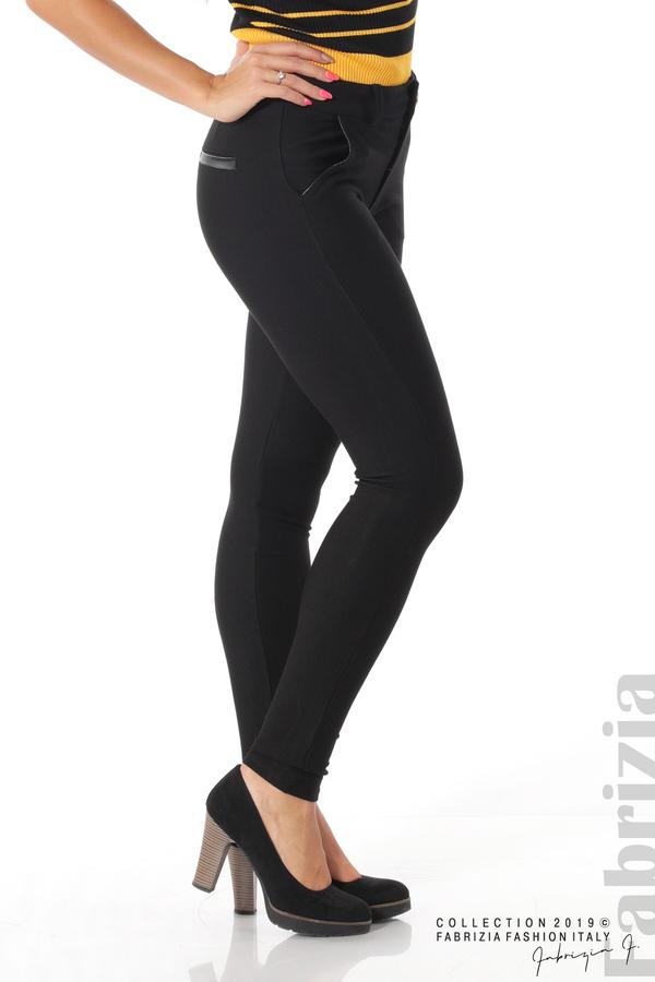 Елегантен дамски панталон с италиански джоб черен 3 fabrizia