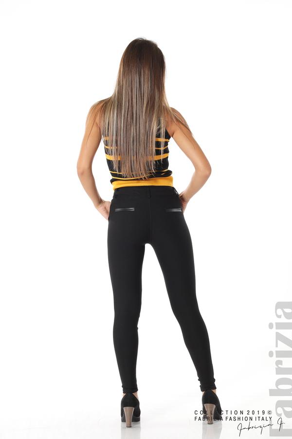 Елегантен дамски панталон с италиански джоб черен 4 fabrizia