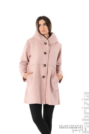 Дамско стилно палто с качулка