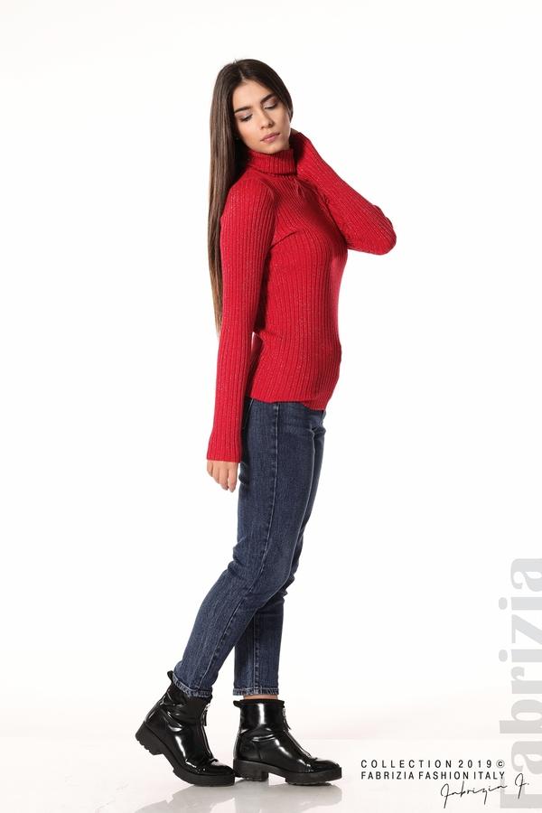 Дамско поло с ламе червен 2 fabrizia