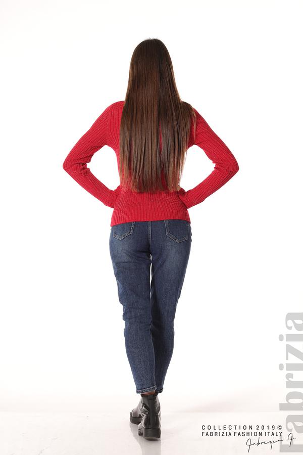 Дамско поло с ламе червен 4 fabrizia