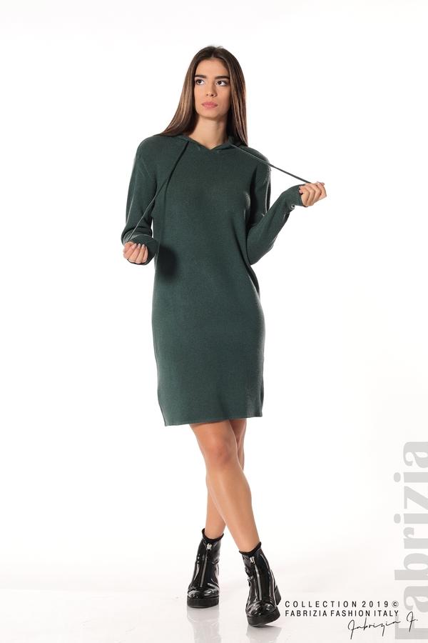 Дамска рокля от фино плетиво т.зелен 2 fabrizia