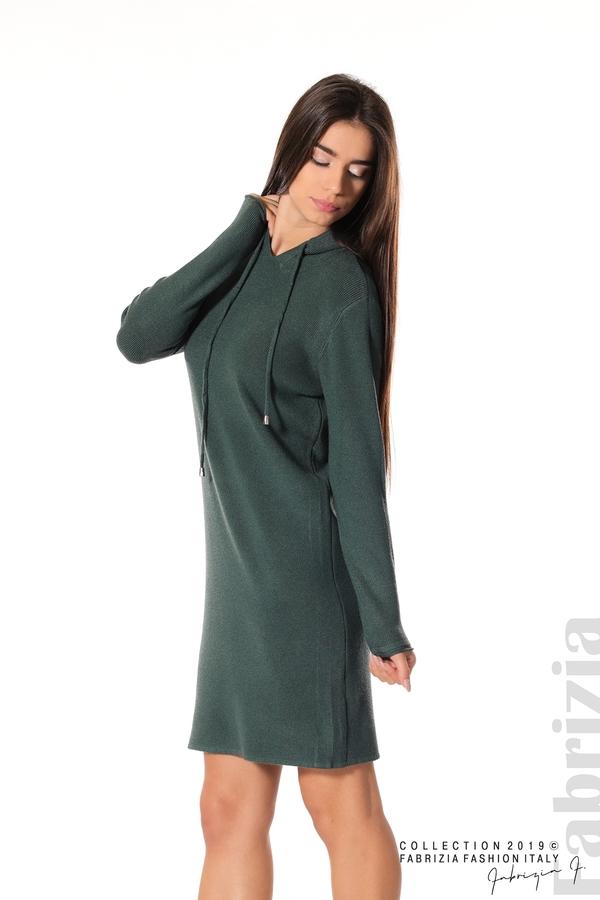 Дамска рокля от фино плетиво т.зелен 3 fabrizia