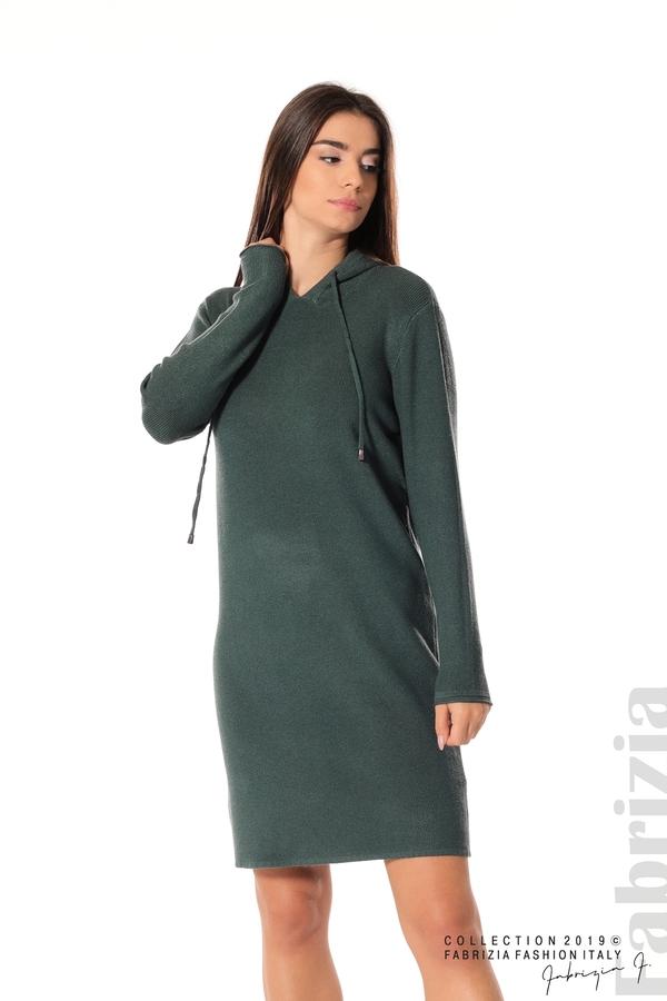 Дамска рокля от фино плетиво т.зелен 1 fabrizia