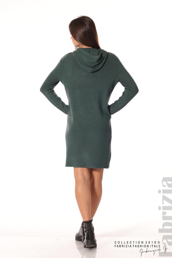 Дамска рокля от фино плетиво т.зелен 5 fabrizia