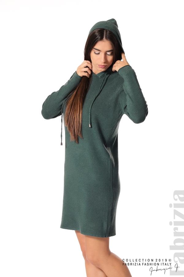 Дамска рокля от фино плетиво т.зелен 4 fabrizia