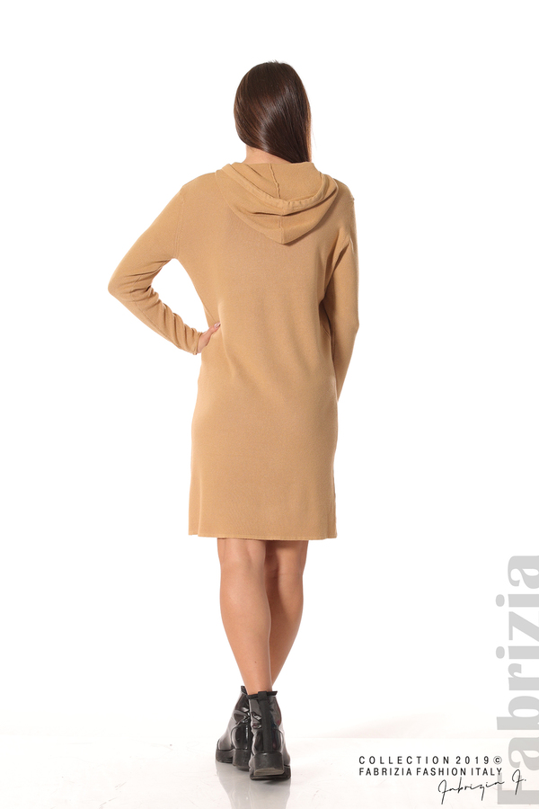 Дамска рокля от фино плетиво св.кафяв 4 fabrizia