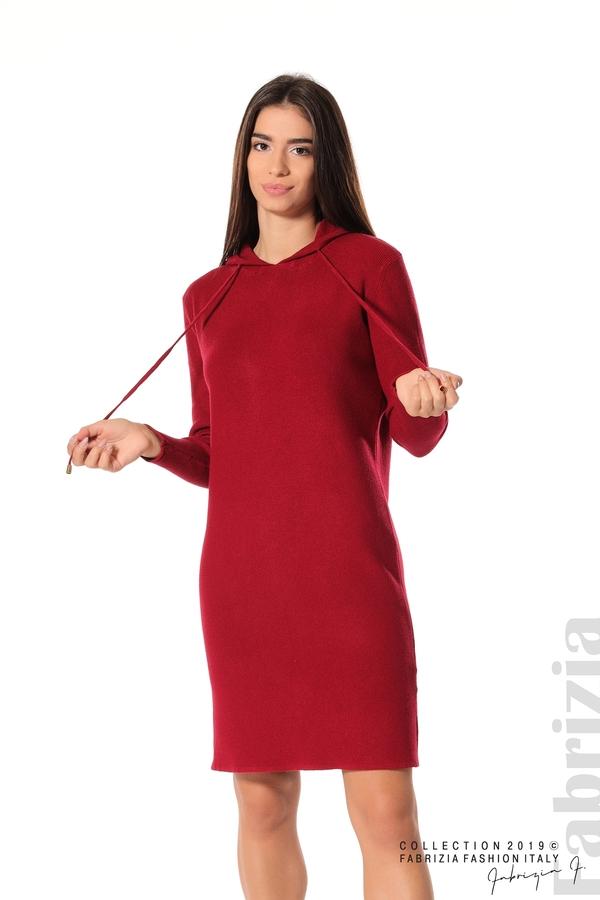 Дамска рокля от фино плетиво т.червен 1 fabrizia