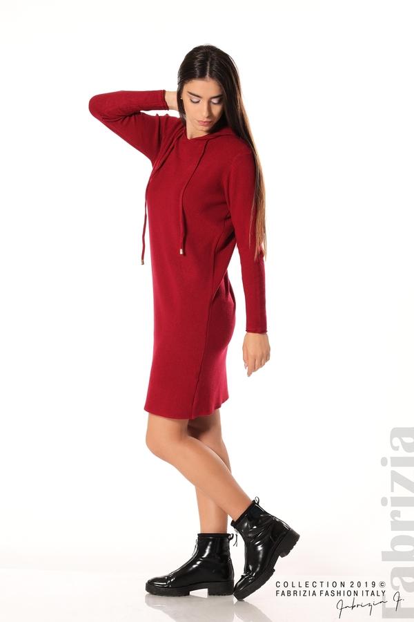 Дамска рокля от фино плетиво т.червен 4 fabrizia