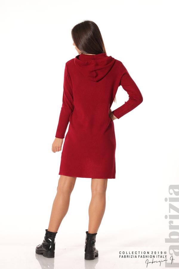 Дамска рокля от фино плетиво т.червен 5 fabrizia