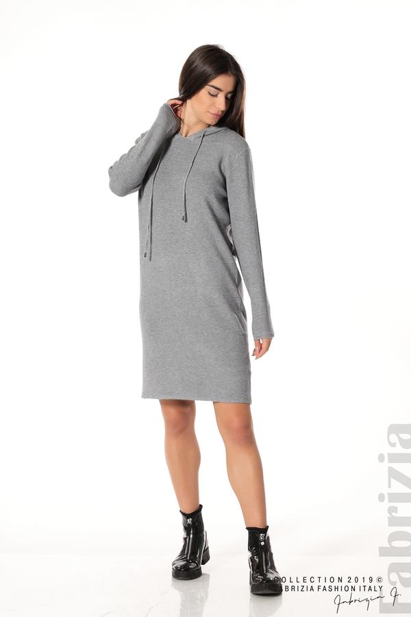 Дамска рокля от фино плетиво сив 3 fabrizia