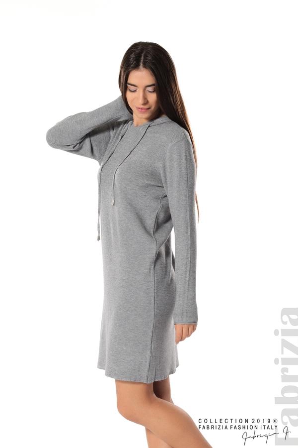 Дамска рокля от фино плетиво сив 1 fabrizia