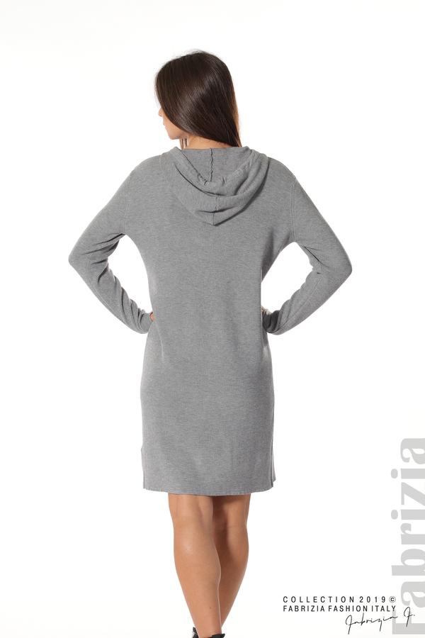 Дамска рокля от фино плетиво сив 5 fabrizia