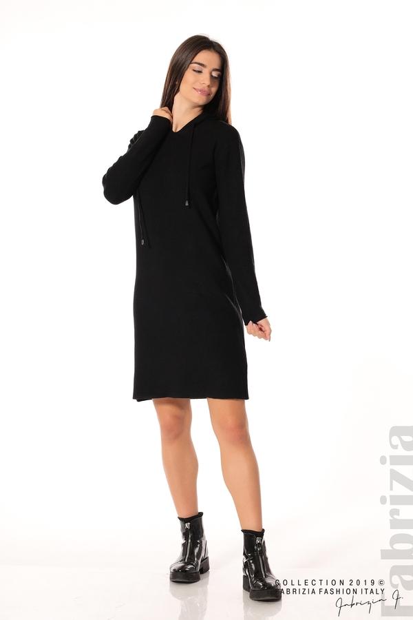 Дамска рокля от фино плетиво черен 3 fabrizia
