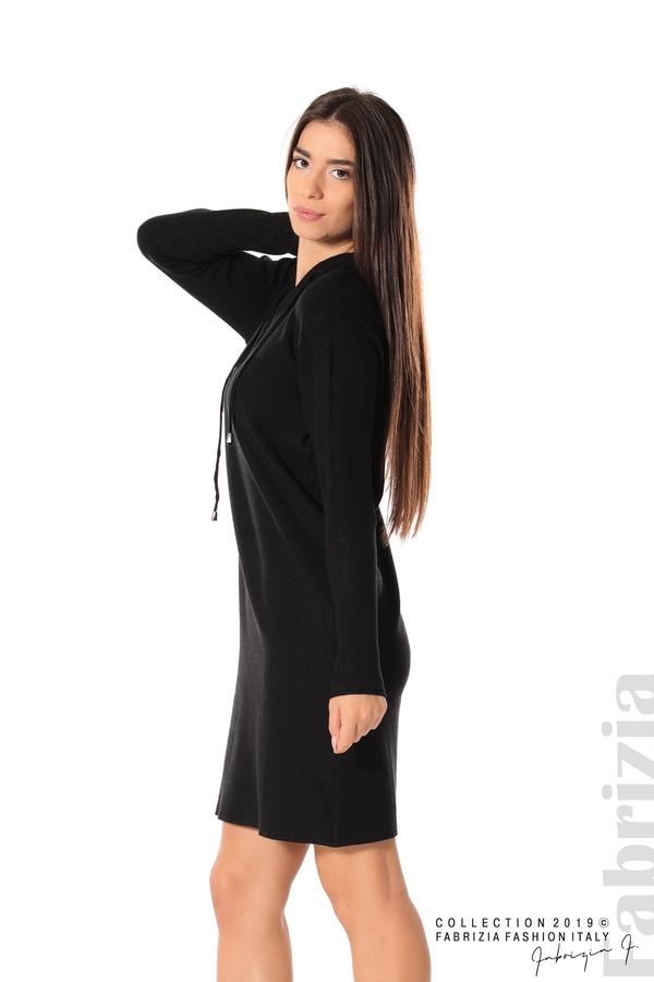 Дамска рокля от фино плетиво черен 2 fabrizia