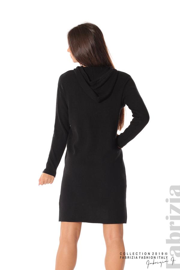 Дамска рокля от фино плетиво черен 4 fabrizia