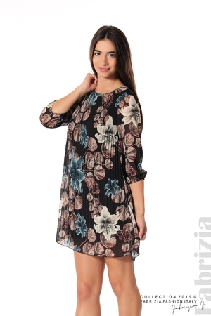 Плисирана къса дамска рокля