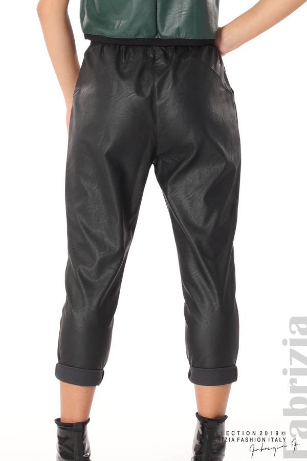Дамски панталон от еко кожа черен 4 fabrizia
