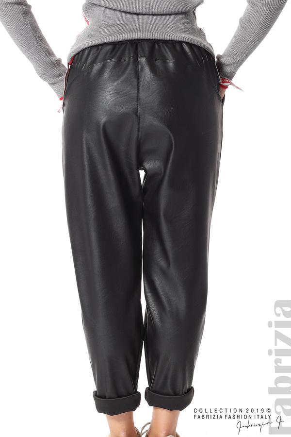 Дамски панталон от еко кожа черен 9 fabrizia