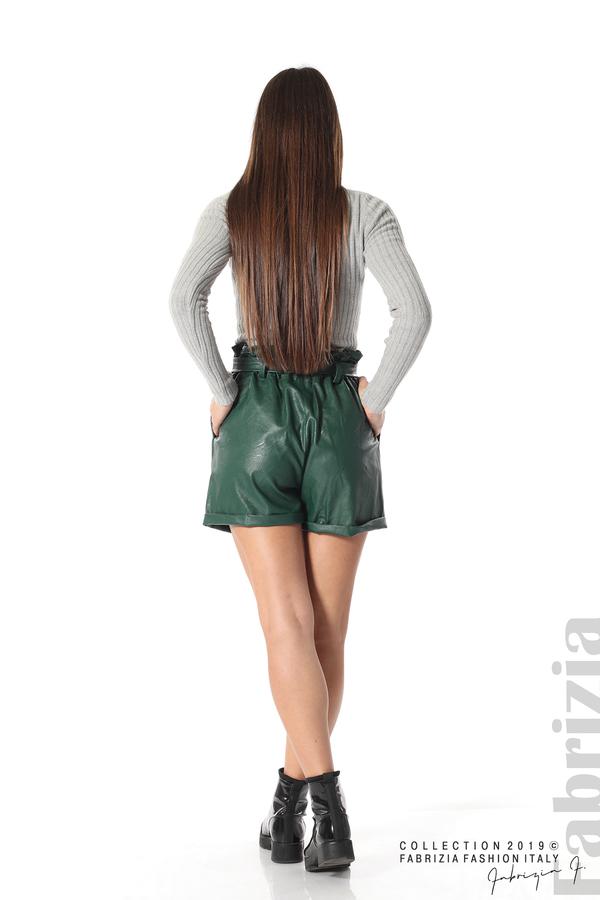 Къс кожен панталон зелен 5 fabrizia