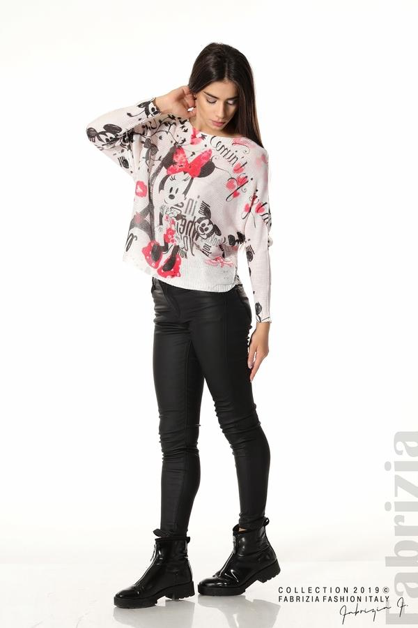 Дамска блуза с Мини Маус пудра 3 fabrizia