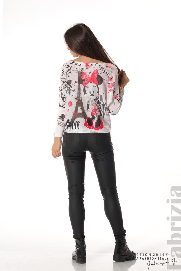 Дамска блуза с Мини Маус пудра 4 fabrizia