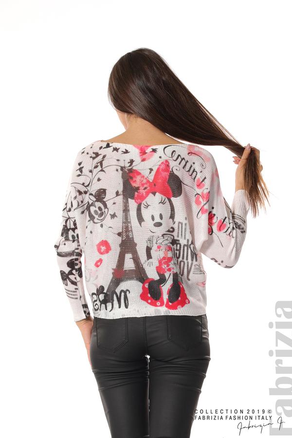 Дамска блуза с Мини Маус пудра 5 fabrizia