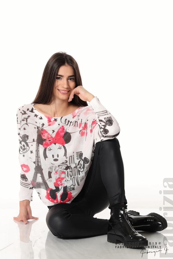 Дамска блуза с Мини Маус пудра 1 fabrizia
