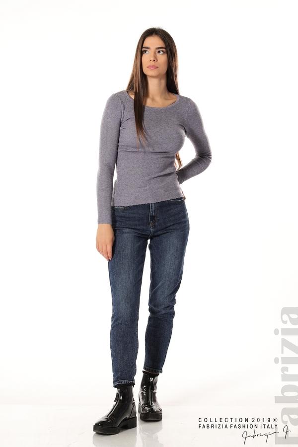 Дамска блуза с обло деколте виолетов 2 fabrizia