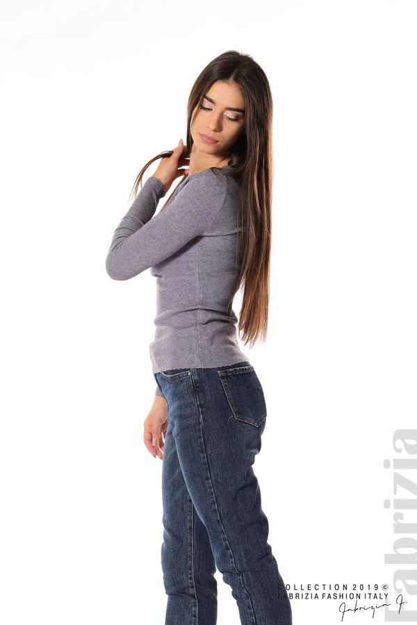 Дамска блуза с обло деколте виолетов 3 fabrizia