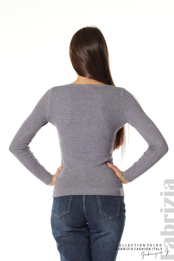 Дамска блуза с обло деколте виолетов 5 fabrizia