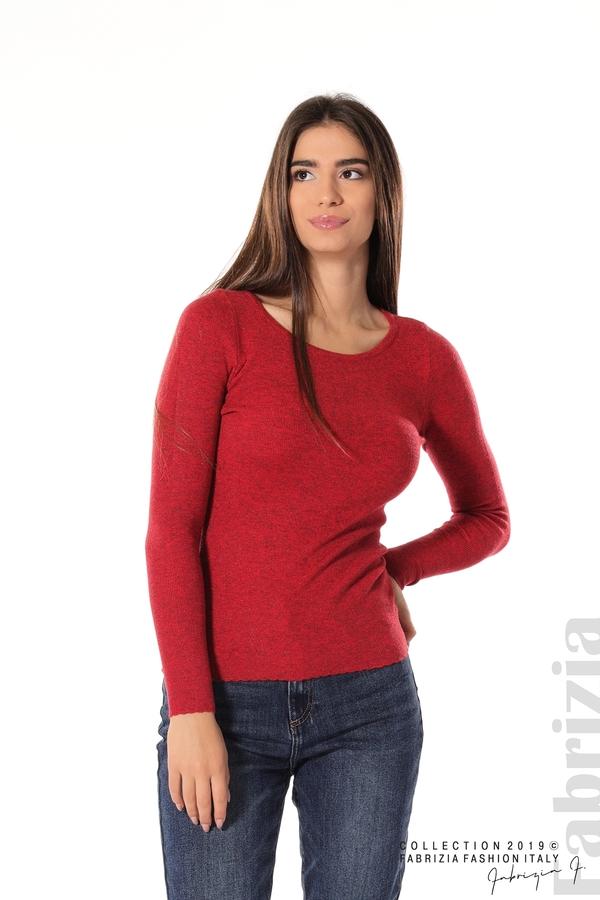 Дамска блуза с обло деколте червен 1 fabrizia