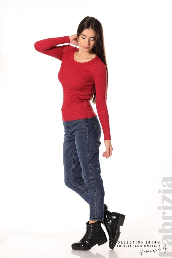 Дамска блуза с обло деколте червен 2 fabrizia