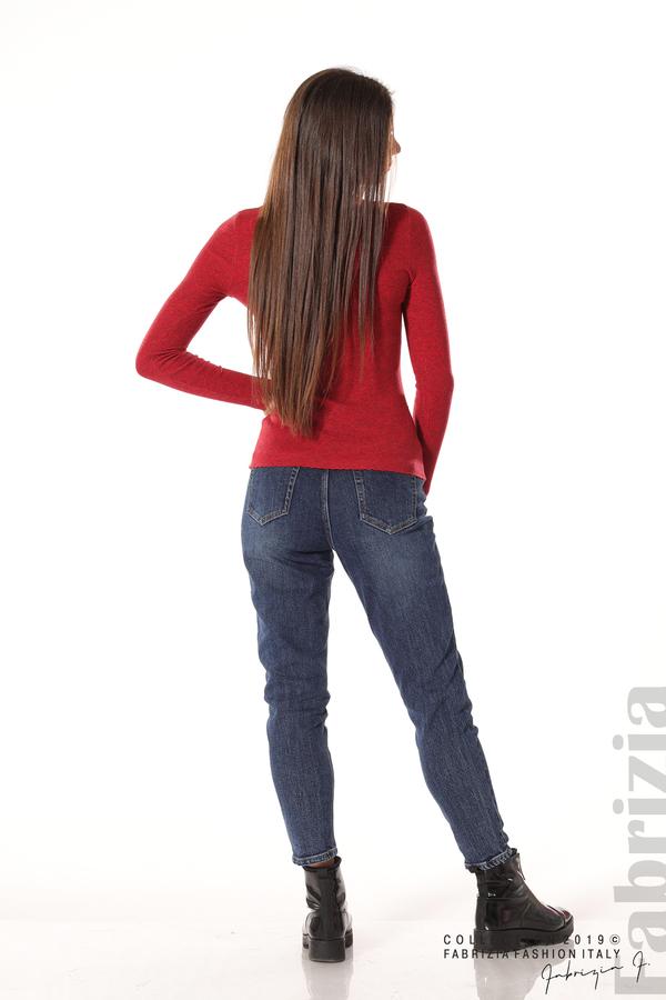 Дамска блуза с обло деколте червен 4 fabrizia