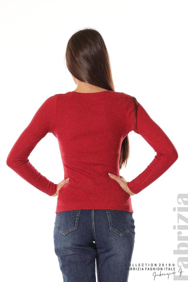 Дамска блуза с обло деколте червен 5 fabrizia