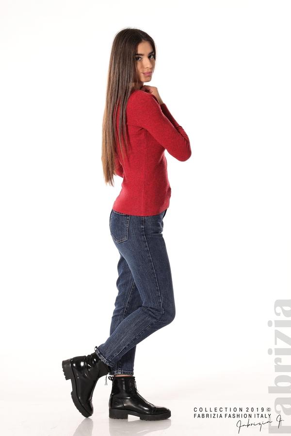 Дамска блуза с обло деколте червен 3 fabrizia