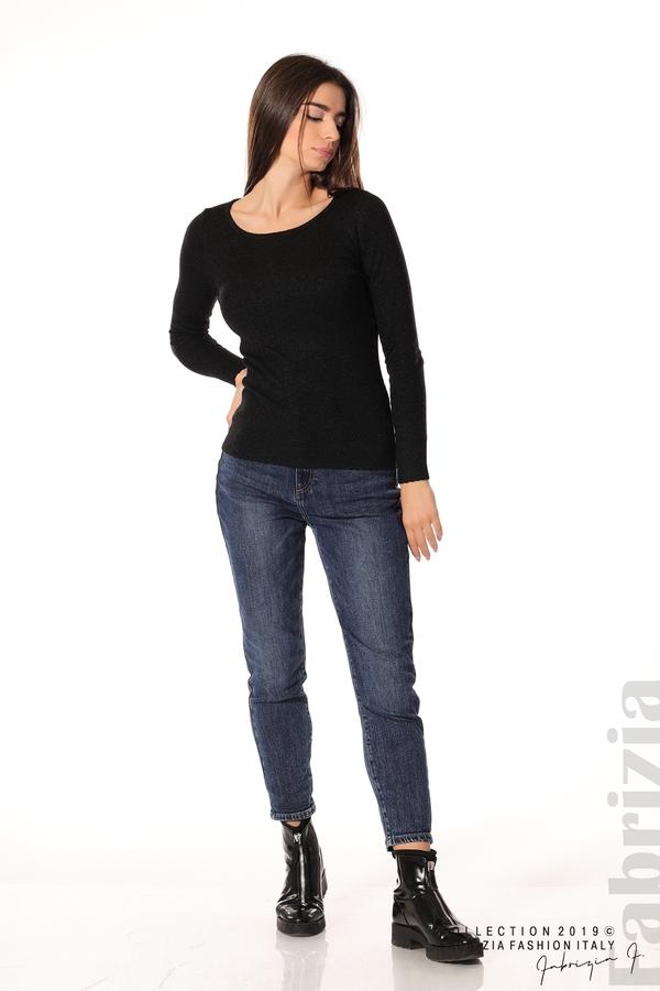 Дамска блуза с обло деколте черен 2 fabrizia