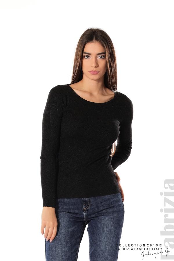 Дамска блуза с обло деколте черен 1 fabrizia