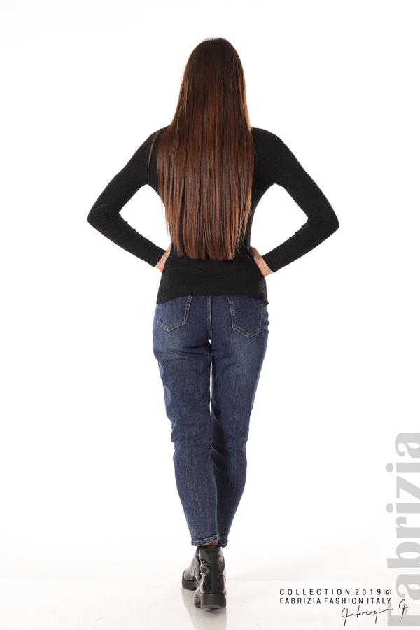 Дамска блуза с обло деколте черен 4 fabrizia