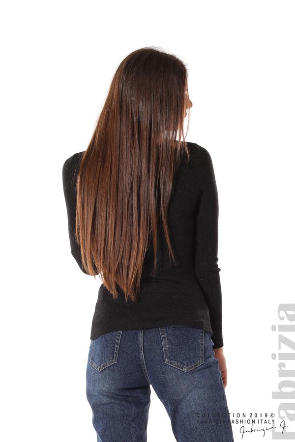 Дамска блуза с обло деколте черен 5 fabrizia