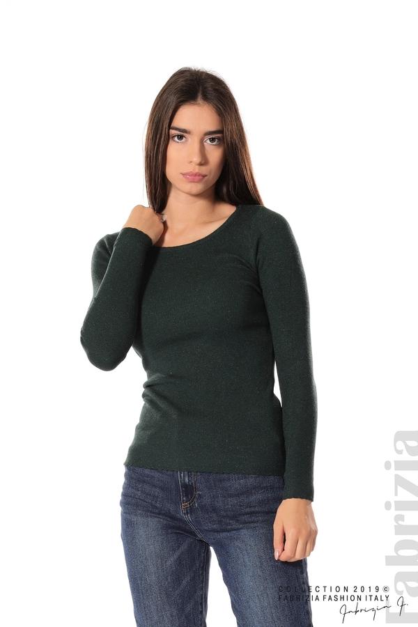 Дамска блуза с обло деколте т.зелен 1 fabrizia