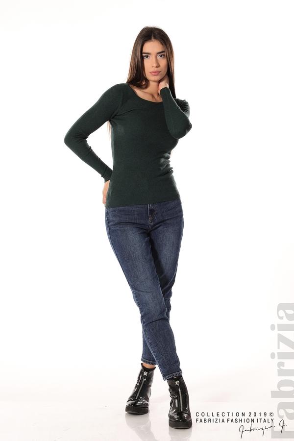 Дамска блуза с обло деколте т.зелен 2 fabrizia