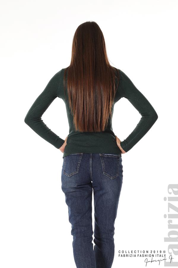 Дамска блуза с обло деколте т.зелен 4 fabrizia