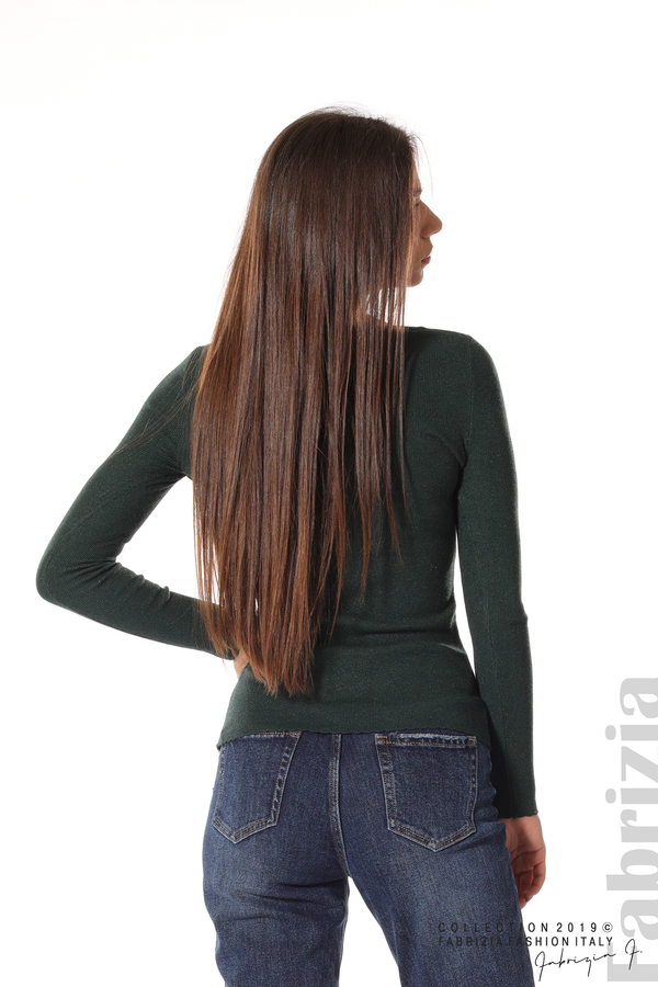 Дамска блуза с обло деколте т.зелен 5 fabrizia